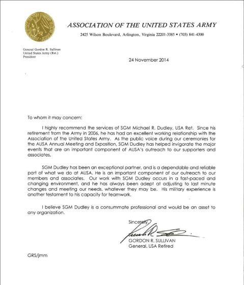 GEN Sullivan Letter